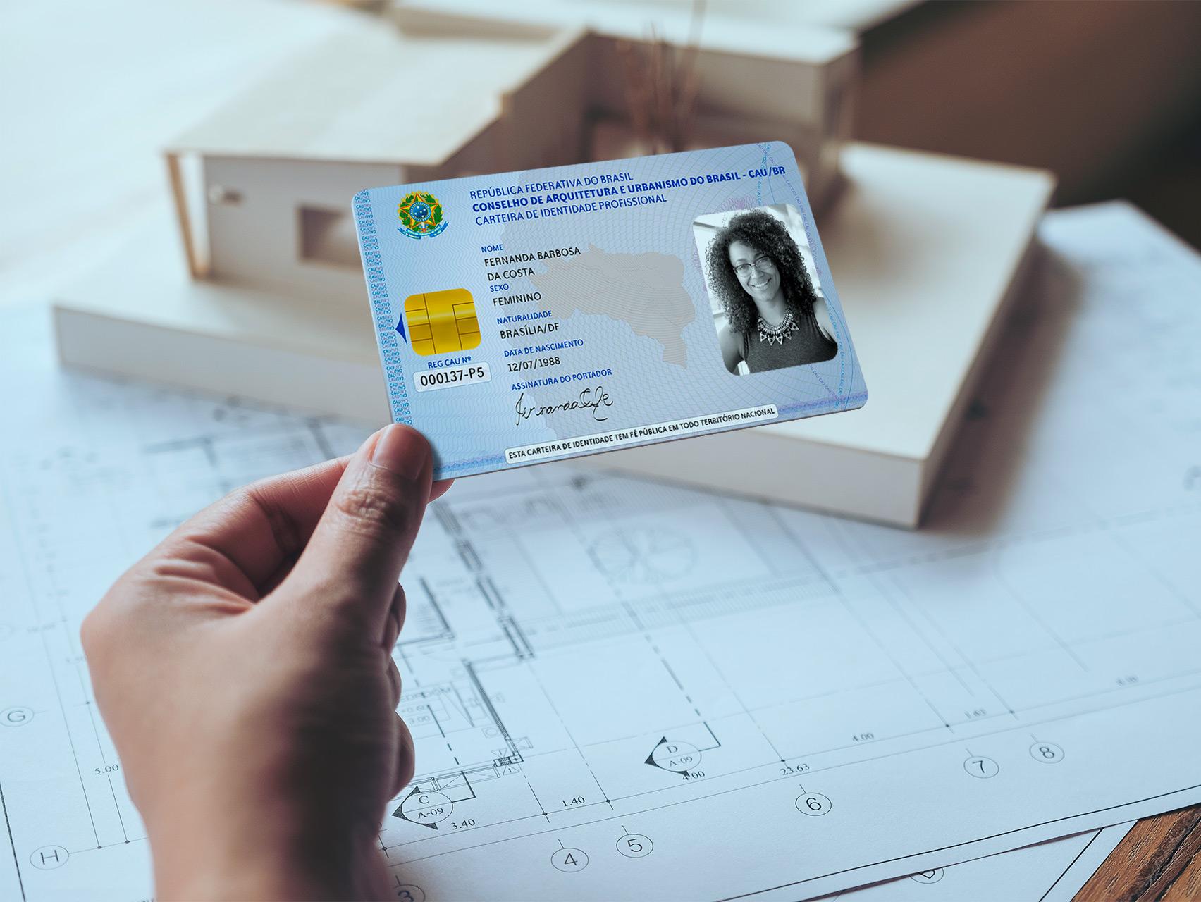 Carteira profissional CAU certificado Digital